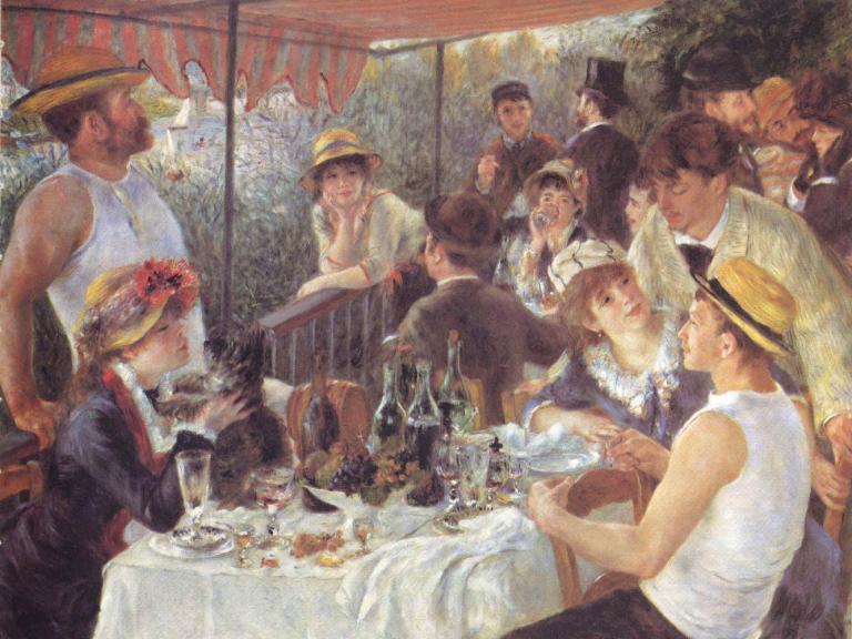 Le Déjeuner des canotiers : huile sur toile du peintre impressionniste français Auguste Renoir, 1880.