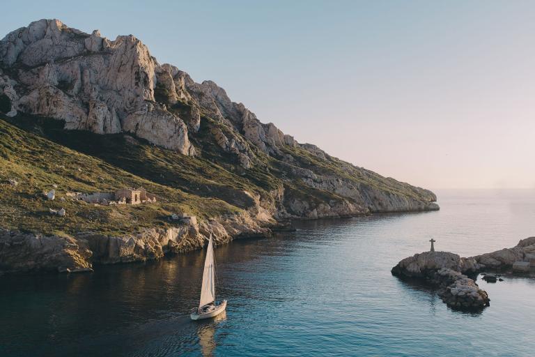 Foto do litoral perto de Marselha, França
