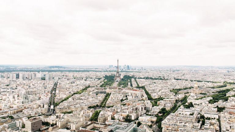 Panorama de Paris vu de Montparnasse, 17/02/2016