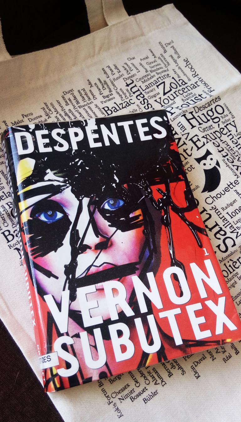 """Photo du livre """"Vernon Subutex"""" de Virginie Despentes à l'école de La Chouette"""