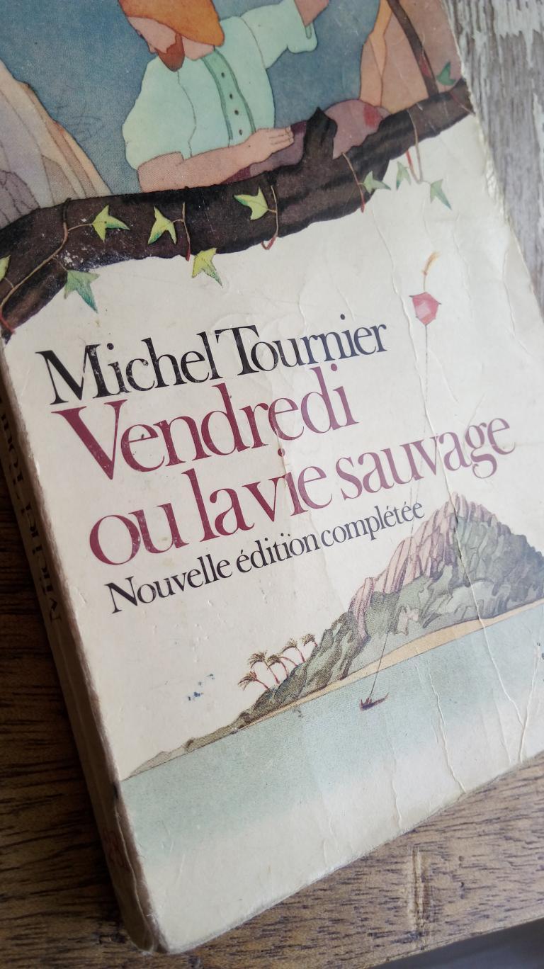 """Couverture du livre """"Vendredi ou la vie sauvage"""" de Michel Tournier"""